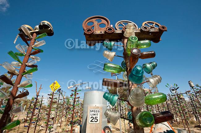 Elmer Long's Bottle Tree Garden along historic Route 66 (National Trails Highway)