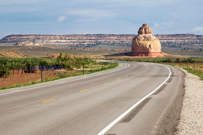 Church Rock on Highway 191 south of Moab, Utah, USA.