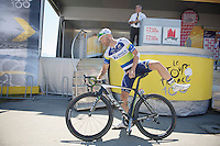 Svein Tuft (CAN) signed in<br /> <br /> Tour de France 2013<br /> stage 20: Annecy to Annecy-Semnoz<br /> 125km