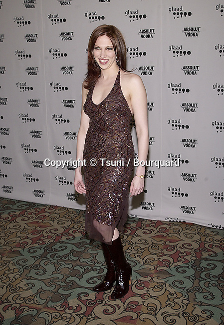 Deborah Gibson arriving at The 12th GLAAD Awards honoring individuals and projects for their representations of Gay, Lesbians, Bisexual and Transexual at the Century Plaza in Los Angeles  4/29/2001  © TsuniGibsonDeborah35.JPG