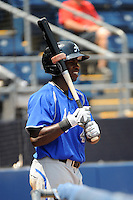 Aberdeen Ironbirds outfielder Roderick Bernadina (4) during game against the Staten Island Yankees at Richmond County Bank Ballpark at St.George on July 18, 2012 in Staten Island, NY.  Staten Island defeated Aberdeen 3-2.  Tomasso DeRosa/Four Seam Images