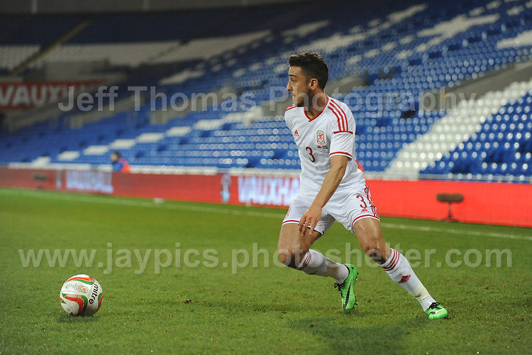 Neil Taylor of Wales. Cardiff City Stadium, Cardiff, Wales, Wednesday 5th March 2014. The Football Association of Wales - Vauxhall International Friendly - Wales v Iceland. Pictures by Jeff Thomas Photography - www.jaypics.photoshelter.com - Contact: thomastwotimes@live.co.uk - 07837 386244