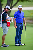 Graeme McDowell (NIR) prepares to putt on 18 during round 1 of the Valero Texas Open, AT&amp;T Oaks Course, TPC San Antonio, San Antonio, Texas, USA. 4/20/2017.<br /> Picture: Golffile | Ken Murray<br /> <br /> <br /> All photo usage must carry mandatory copyright credit (&copy; Golffile | Ken Murray)