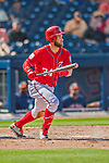 28 February 2017: Washington Nationals outfielder Bryce Harper in Spring Training action during the inaugural game against the Houston Astros at the Ballpark of the Palm Beaches in West Palm Beach, Florida. The Nationals defeated the Astros 4-3 in Grapefruit League play. Mandatory Credit: Ed Wolfstein Photo *** RAW (NEF) Image File Available ***