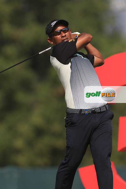 Thongchai Jaidee (THA) on the 3rd during Round 3 of the Omega Dubai Desert Classic, Emirates Golf Club, Dubai,  United Arab Emirates. 26/01/2019<br /> Picture: Golffile | Thos Caffrey<br /> <br /> <br /> All photo usage must carry mandatory copyright credit (&copy; Golffile | Thos Caffrey)