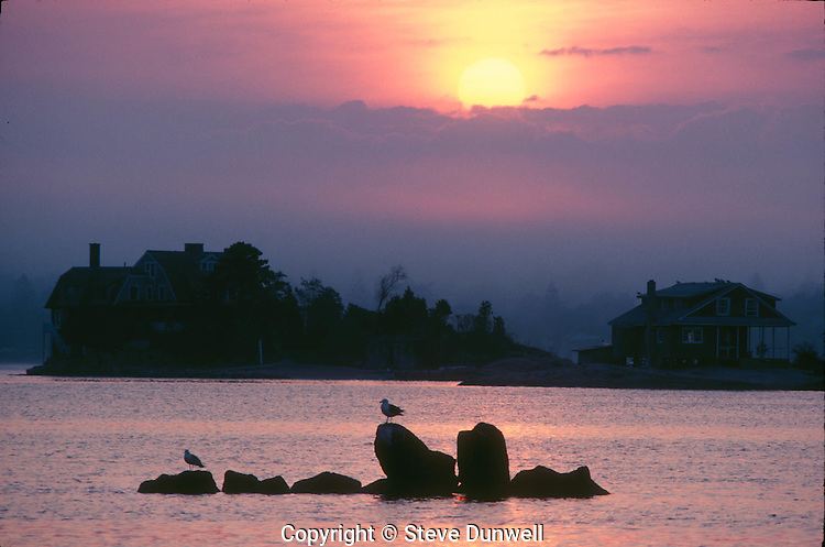 Thimble Island sunrise, Branford, CT