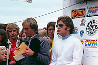 Bells Beach, Torquay, Victoria, Australia. The presentation of the Rip Curl Bells Beach Easter Classic 1981 with  Roy Norris (AUS), Quiksilver founder John Law (AUS), Rip Curl founder Doug  'Claw' Warbrick (AUS) and Surfing Australia's Alan Atkins (AUS), ..Photo: joliphotos