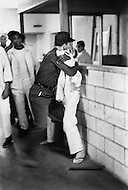 Cummings, AR. February 1968. <br /> A riot between a prisoner and a security guard. Cummins unit of Arkansas State Penitentiary. The corruption scandal of the historical penitentiary inspired the 1980 film Brubaker, which chronicled the warden's inside investigation into the corrupt southern prison system.