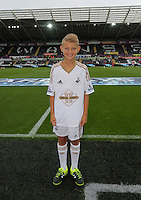 Pictured: Child mascot Sunday 30 August 2015<br /> Re: Premier League, Swansea v Manchester United at the Liberty Stadium, Swansea, UK