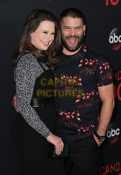 08 April 2017 - West Hollywood, California - Katie Lowes, Guillermo Diaz. ABC's 'Scandal' 100th Episode Celebration held at Fig &amp; Olive in West Hollywood.   <br /> CAP/ADM/BT<br /> &copy;BT/ADM/Capital Pictures