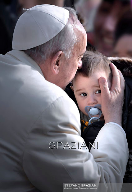 Pope Francis  during his weekly general audience in St. Peter square at the Vatican, Wednesday. March 11, 2015