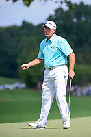 D.A. Points (USA) reacts to sinking his birdie putt on 8 during Friday's round 2 of the PGA Championship at the Quail Hollow Club in Charlotte, North Carolina. 8/11/2017.<br /> Picture: Golffile | Ken Murray<br /> <br /> <br /> All photo usage must carry mandatory copyright credit (&copy; Golffile | Ken Murray)