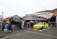 Jul. 27, 2013; Sonoma, CA, USA: NHRA fans at the Toyota Pit Pass display during qualifying for the Sonoma Nationals at Sonoma Raceway. Mandatory Credit: Mark J. Rebilas-