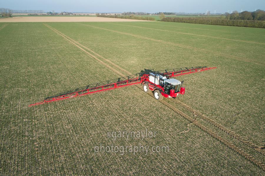 Applying liquid nitrogen to winter wheat - Lincolnshire, February