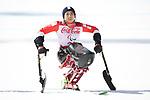 Momoka Muraoka (JPN), <br /> MARCH 11, 2018 - Alpine Skiing : <br /> Women's Super G Sitting  <br /> at Jeongseon Alpine Centre  <br /> during the PyeongChang 2018 Paralympics Winter Games in Pyeongchang, South Korea. <br /> (Photo by Sho Tamura/AFLO SPORT)