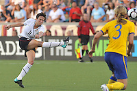 Megan Rapinoe...USWNT tied Sweden 1-1 at Morrison Stadium, Omaha Nebraska.