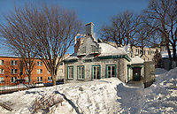 Kirk Hall, built 1829 by the congregation of St Andrews Presbyterian Church, to be used as a school, in Quebec City, Quebec, Canada. The Historic District of Old Quebec is listed as a UNESCO World Heritage Site. Picture by Manuel Cohen