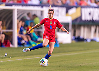 PHILADELPHIA, PA - AUGUST 29: Morgan Brian #6 of the United States passes the ball during a game between Portugal and the USWNT at Lincoln Financial Field on August 29, 2019 in Philadelphia, PA.