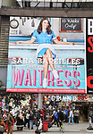 "Theatre Billboard unveiling for ""Waitress"" starring Sara Bareilles in Times Square on 3/31/2017 in New York City."
