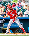 1 March 2019: Washington Nationals third baseman Anthony Rendon at bat in a Spring Training game against the Miami Marlins at Roger Dean Stadium in Jupiter, Florida. The Nationals defeated the Marlins 5-4 in Grapefruit League play. Mandatory Credit: Ed Wolfstein Photo *** RAW (NEF) Image File Available ***