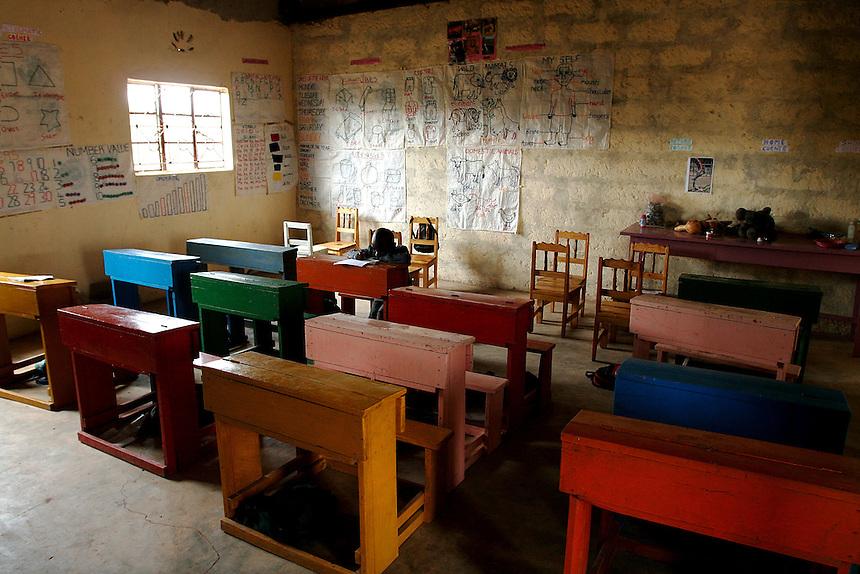 Antony Kimathi.Early Childhood Development schhol at Pepo La Tumaini Jangwani in Isiolo, Kenya., on Tuesday, July  29, 2008.  (Photo by Bryce Yukio Adolphson, © 2008)