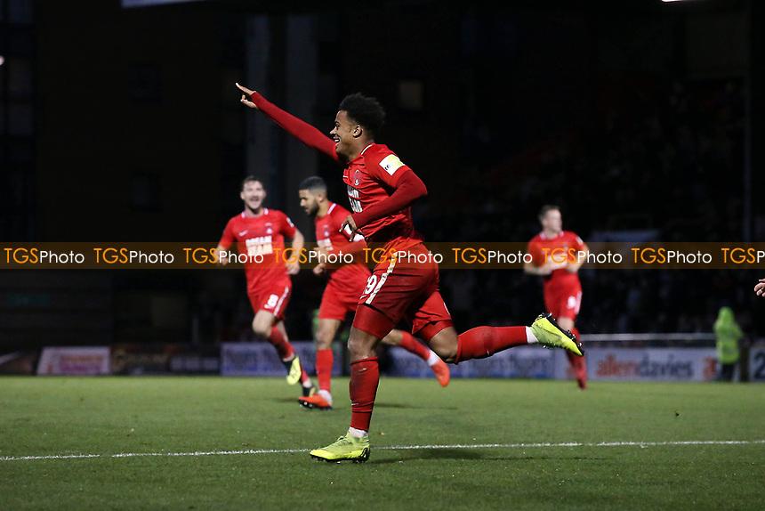 O's Josh Koroma scores and celebrates during Leyton Orient vs Gateshead, Vanarama National League Football at The Breyer Group Stadium on 1st December 2018