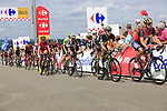 The peloton summit the Cat 3 climb of Cote d'Eschdorf during Stage 3 of the 104th edition of the Tour de France 2017, running 212.5km from Verviers, Belgium to Longwy, France. 3rd July 2017.<br /> Picture: Eoin Clarke   Cyclefile<br /> <br /> All photos usage must carry mandatory copyright credit (&copy; Cyclefile   Eoin Clarke)