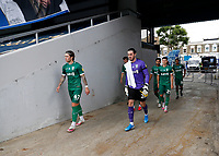 11th July 2020; The Kiyan Prince Foundation Stadium, London, England; English Championship Football, Queen Park Rangers versus Sheffield Wednesday; Josh Windass, Goalkeeper Joe Wildsmith, Alex Hunt, Alessio da Cruz of Sheffield Wednesday and the rest of the starting players walking towards the pitch from the away tunnel before kick off