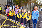 Listowel Brownies waiting to see President Higgins on his visit to Listowel on Saturday morning
