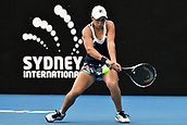 11th January 2018, Sydney Olympic Park Tennis Centre, Sydney, Australia; Sydney International Tennis,quarter final; Ashley Barty (AUS) in her match against Barbora Strycova (CZE)