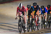 7th February 2019, Melbourne Arena, Melbourne, Australia; Six Day Melbourne Cycling; Abbie Dentus of Great Britain leading competitors during the 20km points race