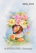 Ron, CUTE ANIMALS, Quacker, paintings, brown duck, flowers(GBSG6446,#AC#) Enten, patos, illustrations, pinturas