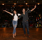 "Lauren Boyd and Anthony Lee Medina from the 'Hamilton' cast backstage as Students attend The Rockefeller Foundation and The Gilder Lehrman Institute of American History sponsored High School student #EduHam matinee performance of ""Hamilton"" at the Richard Rodgers Theatre on 4/26/2017 in New York City."