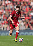 Liverpool's Andy Robertson in action during the premier league match at the Anfield Stadium, Liverpool. Picture date 19th August 2017. Picture credit should read: David Klein/Sportimage