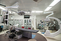 NWA Democrat-Gazette/BEN GOFF @NWABENGOFF<br /> A view of the state-of-the art operating room Wednesday, Feb. 28, where transcatheter aortic valve replacements are performed at Mercy Hospital Northwest Arkansas in Rogers.