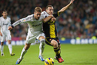 Sergio Ramos fighting for a ball