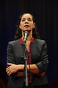 """Edinburgh, UK. 03.08.2015. """"THE CHRISTIANS"""" opens at the Traverse Theatre, during the Edinburgh Festival Fringe.  Picture shows: Jaye Griffiths (Pastor's Wife). Photograph © Jane Hobson."""
