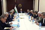 Palestinian President Mahmoud Abbas speaks during a meeting of the Central Committee of Fatah Movement at the Palestinian Authority headquarters, in the West Bank city of Ramallah, on October 6, 2018. Photo by Thaer Ganaim