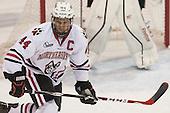 Dax Lauwers (NU - 44) - The visiting University of Vermont Catamounts defeated the Northeastern University Huskies 6-2 on Saturday, October 11, 2014, at Matthews Arena in Boston, Massachusetts.
