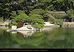 Sawa-no-Ike Pond Jari-Jima Island Gojusantsugi Koshikake-Jaya Teahouse Korakuen Okayama Japan