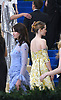 Felicity Jones and Claire Foy attends the Costume Institute Gala at the Metropolitan Museum of Art honoring Rei Kawakubo/ Comme des Garcons: Art of the In-Between on May 1, 2017 in New York, New York, USA. <br /> <br /> photo by Robin Platzer/Twin Images<br />  <br /> phone number 212-935-0770