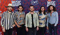 NASHVILLE, TENNESSEE - JUNE 05: Chandler Baldwin, Brandon Lancaster, Eric Steedly, Tripp Howell, and Jared Hampton of Lanco attend the 2019 CMT Music Awards at Bridgestone Arena on June 05, 2019 in Nashville, Tennessee. <br /> CAP/MPI/IS/NC<br /> ©NC/IS/MPI/Capital Pictures