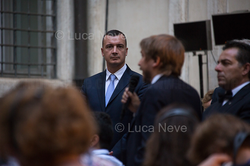 "Rocco Casalino (Spokesperson and press office head of the Italian Prime Minister Giuspeppe Conte, former Spokesperson and Coordinator of the National Communication for the Five Star Movement, Engineer and participant of the first Italian edition of the reality show ""Big Brother"").<br />