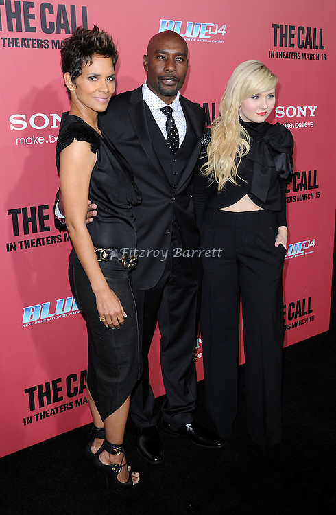 "Halle Berry, Morris Chestnut and Abigail Bresllin at the premiere for ""The Call"" held at Archlight  Theater in Los Angeles, CA. March 5, 2013."