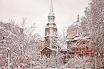 Arlington Street Church in winter, Boston, MA, USA