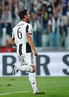 Calcio, Serie A: Juventus vs Fiorentina. Torino, Juventus Stadium, 20 agosto 2016.<br /> Juventus' Sami Khedira celebrates after scoring during the Italian Serie A football match between Juventus and Fiorentina at Turin's Juventus Stadium, 20 August 2016. Juventus won 2-1.<br /> UPDATE IMAGES PRESS/Isabella Bonotto