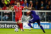 September 12th 2017, Munich, Germany, Champions League football, Bayern Munich versus Anderlecht; Franck Ribery of Bayern Munchen takes on Chipciu