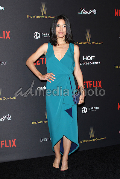 10 January 2016 - Los Angeles, California - Julia Jones. 2016 Weinstein Company & Netflix Golden Gloves After Party held at the Beverly Hilton Hotel. Photo Credit: AdMedia