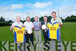 Glenflesk GAA will host a night of celebration for the 1988 O'Donoghue Cup team. <br /> L-R Jimmy Kelly (1988 player), Derry Crowley (1988 selector, player and manager), Tom Brosnan (chairman of the club in 1988 and founding member of the club), John O'Donoghue (captain) and Brendan O'Brien (player).