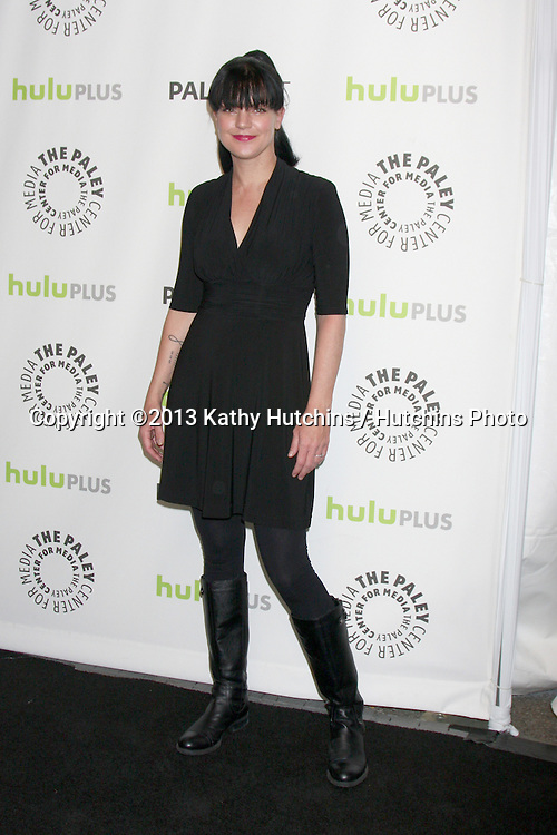 """LOS ANGELES - MAR 13:  Pauley Perrette arrives at the  """"Big Bang Theory"""" PaleyFEST Event at the Saban Theater on March 13, 2013 in Los Angeles, CA"""